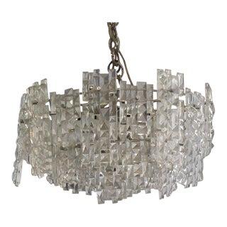 Kinkeldey Crystal Flush Mount Chandelier For Sale