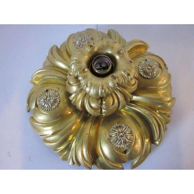 Art Nouveau E.F.Caldwell Art Nouveau Styled Gold Gilded Light Fixture For Sale - Image 3 of 8