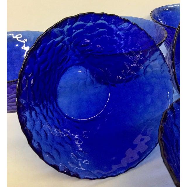 Italian 1960s Vintage Cobalt Blue Bowls - Set of 6 For Sale - Image 3 of 11