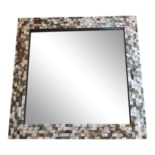 Black Mother of Pearl Mirror For Sale