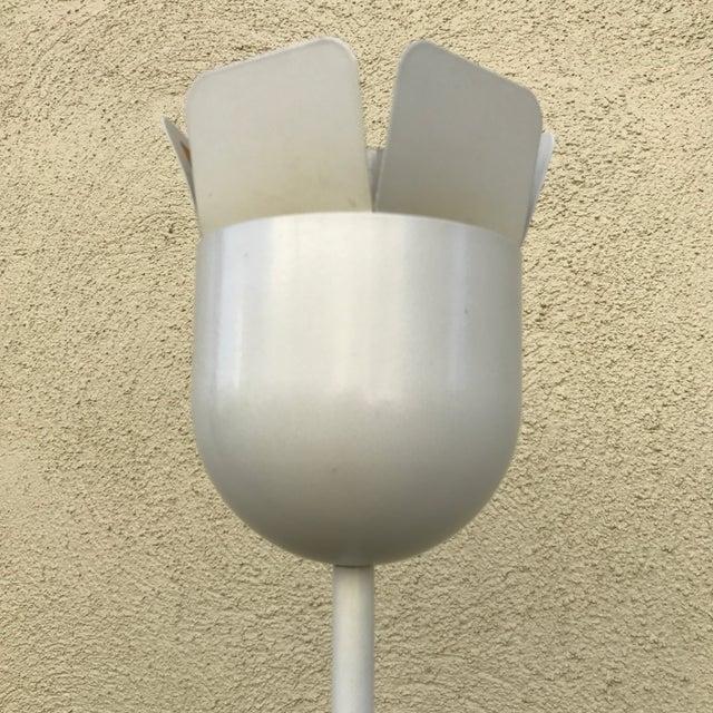 Relco Italian White Metal Floor Lamp For Sale - Image 4 of 10