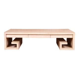 Thomas Pheasant for Baker Furniture Greek Key Coffee Table For Sale