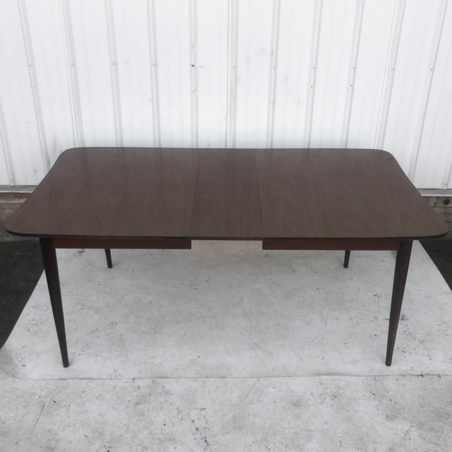 Mid-Century Modern Mid-Century Dining Table With Leaf For Sale - Image 3 of 13