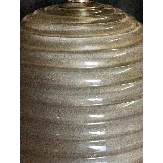 Murano Milk Glass Egg Pendant Light 1960/70 For Sale - Image 4 of 6