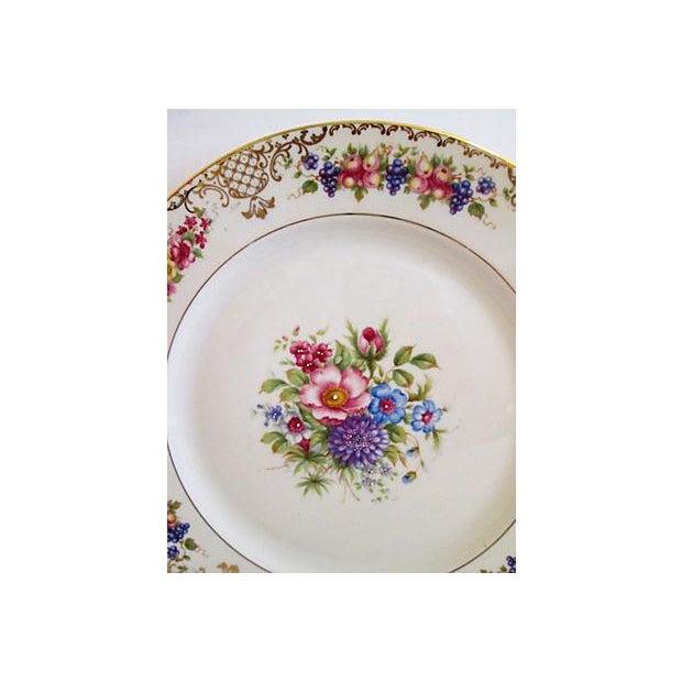 European Gilded Dinner Plates - Set of 4 - Image 6 of 8
