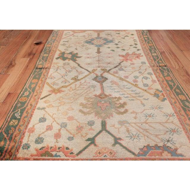 Textile Antique Decorative Turkish Oushak Rug - 3′7″ × 6′7″ For Sale - Image 7 of 11