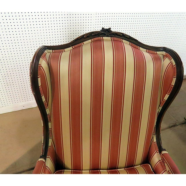 Louis XV Style Wingback Chairs - a Pair For Sale In Philadelphia - Image 6 of 13