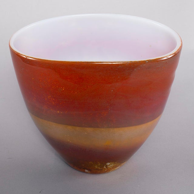 Ermanno Nason for Antonio Da Ros Opaline Murano Glass Bowl For Sale In Detroit - Image 6 of 10
