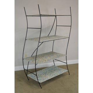 Whimsical Mid Century Modern Iron Etagere Display Rack Preview