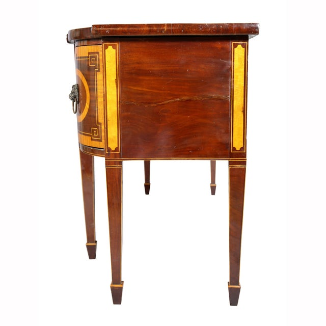 George III Mahogany and Satinwood Sideboard For Sale - Image 10 of 12