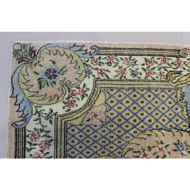 Hand Woven Overdyed Vintage Turkish Rug - Image 6 of 7