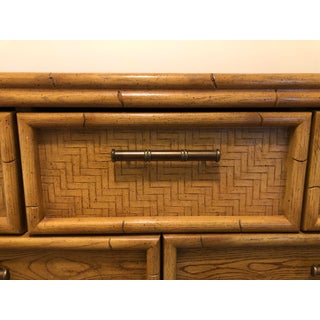 Mid-Century Lea Faux Bamboo & Rattan Dresser Preview