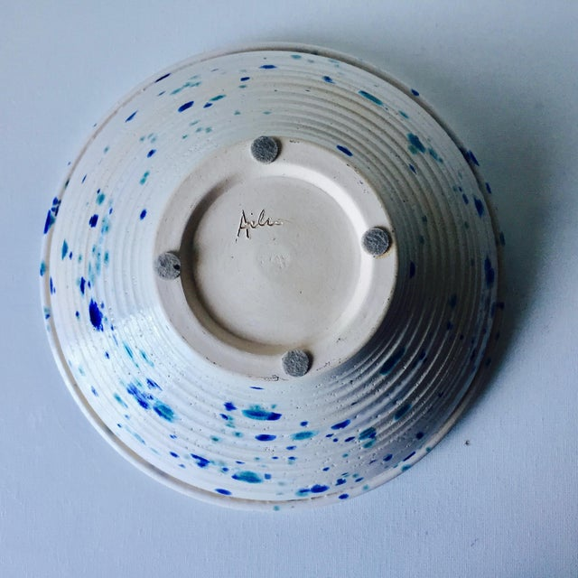 Studio Pottery Spatter Ware Serving Bowl-Signed For Sale In New York - Image 6 of 10