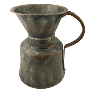 Antique Persian Water Vessel| Antique Copper Pitcher For Sale