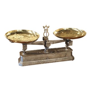 Antique French 10 Kilo Scale, Circa 1910 For Sale