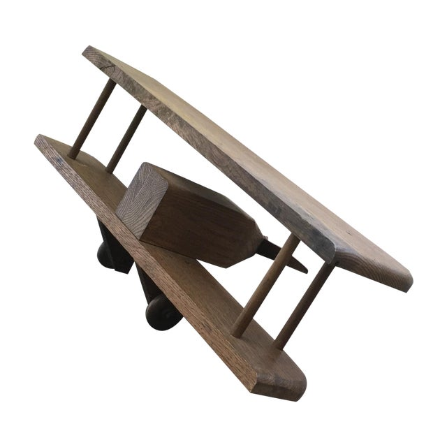 Vintage Wooden Airplane, Mid Century Modern Style - Image 1 of 6