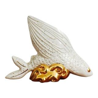 Vintage Gold Speckled Fish Planter