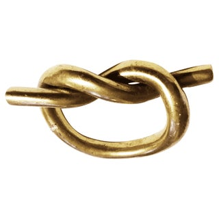 Vintage Nautical Brass Knot Paperweight