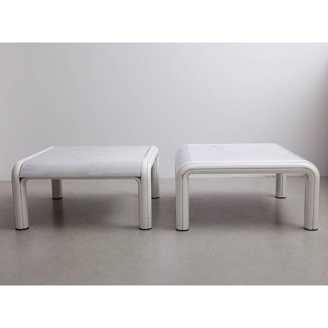 1970s Rare Pair of Marble Coffee or Sofa Tables by Gae Aulenti for Knoll, Italy, 1970s For Sale - Image 5 of 7