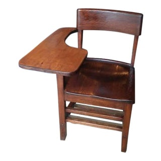 Early 20th Century Antique Mission / Arts & Crafts Style Tiger Oak School Desk For Sale