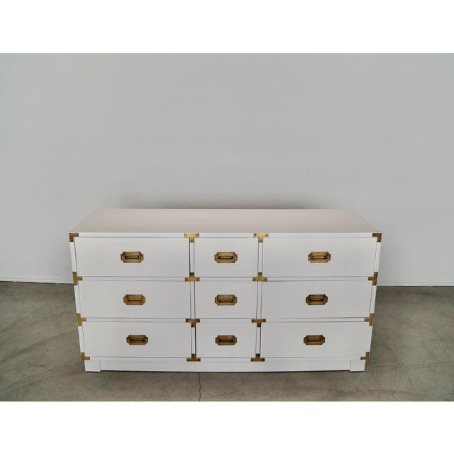 Gorgeous vintage Mid-century dresser for sale. Manufactured by Drexel in 1964, and part of their 'Campaigner' series. It...