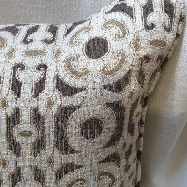 Cream & Brown Custom Pillow - Image 6 of 8