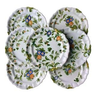 8 Cantagalli Italian Faience Hand-Painted Plates