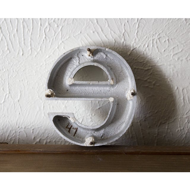 A lovely industrial salvage wall accent, this lower case letter E was found in a small pile of similar letters. It has a...
