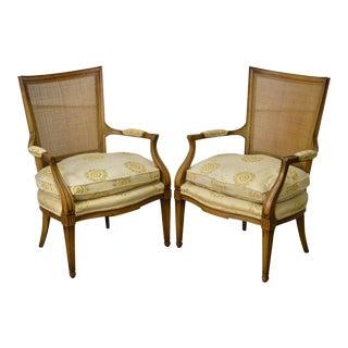 Widdicomb Mid Century Regency Directoire Pair of Fauteuils Arm Chairs
