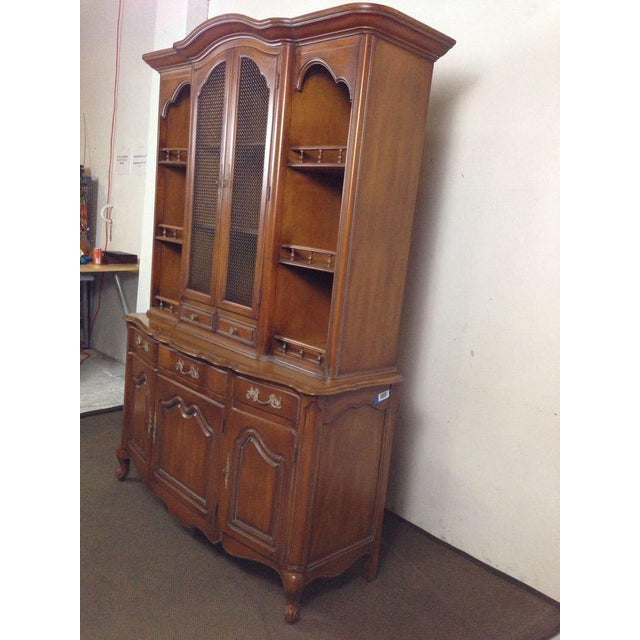 French Provincial-Style Oak Hutch - Image 4 of 4