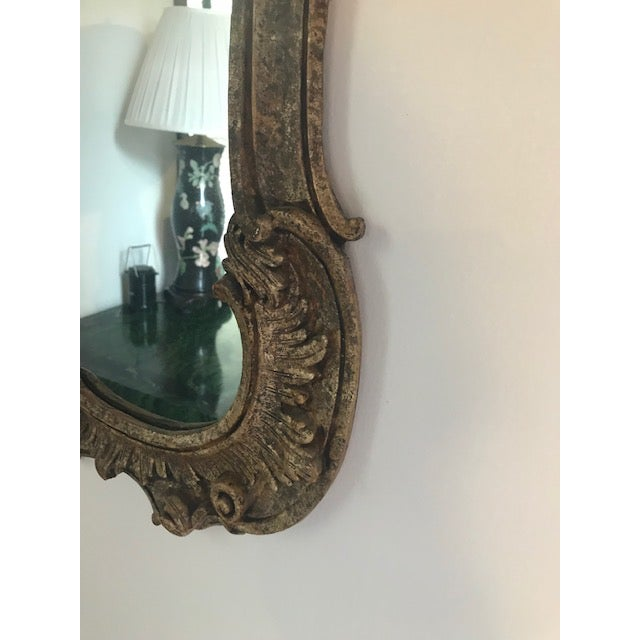 1970s 1970s Vintage Milch Carved Giltwood Mirror For Sale - Image 5 of 13