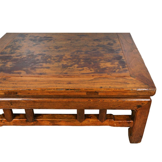 Antique Chinese Carved Kang Table/Coffee Table For Sale - Image 10 of 12
