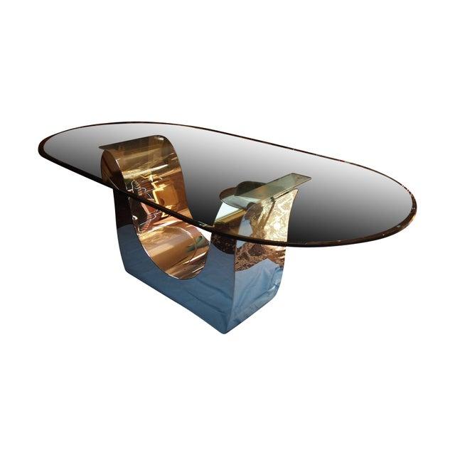 Chrome Shears Tulip Table - Image 1 of 2