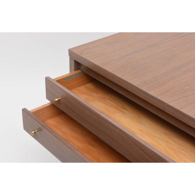 Calvin Furniture Paul McCobb Greige Walnut Side Table for Calvin For Sale - Image 4 of 10
