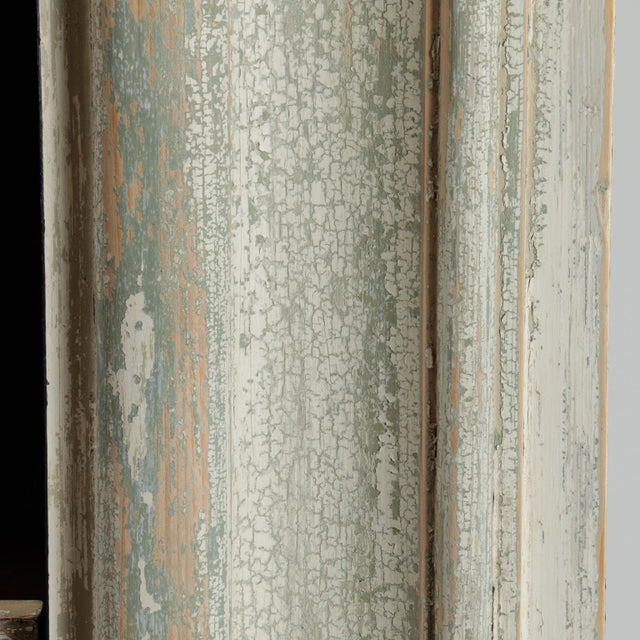 19th Century Door Frame Bookcase with Copper Lined Shelves For Sale - Image 11 of 11