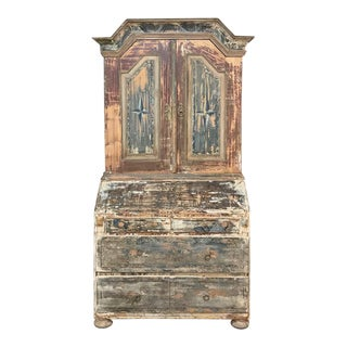 18th Century Painted Swedish Secretary ~ Bookcase For Sale