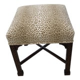 Image of Classic Chippendale Style Square Stool For Sale