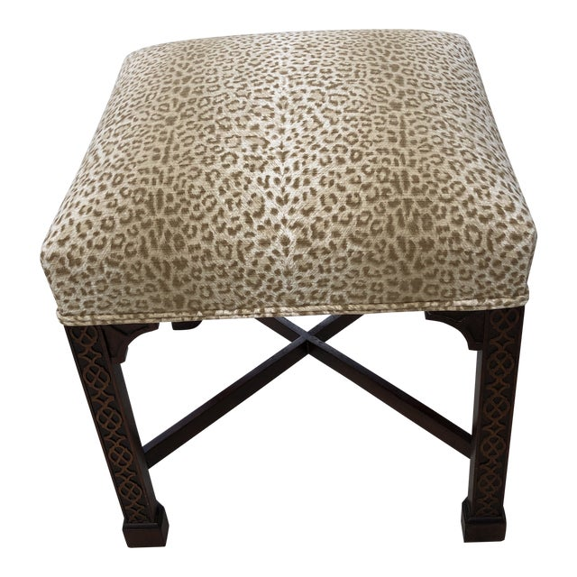 Classic Chippendale Style Square Stool For Sale
