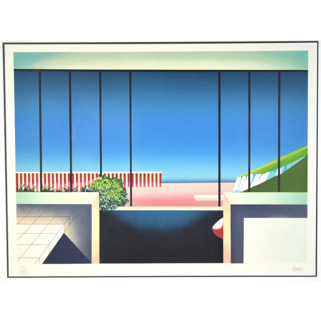"""Teddy Radko (French, 20th C.) """"Mezzanine"""", lithograph, circa 1985, signed and numbered in pencil lower margin. Number 79..."""