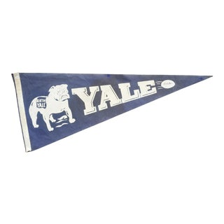 1930's Yale Football Pennant For Sale