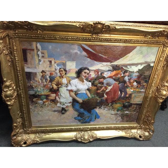 Amazing market scene by Witman Etelka Vizkeleti , Hungarian 1882-1962. Vibrant rich colors make you want to dance. Large...