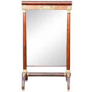 19th C. French Mahogany Empire Period Mirror For Sale