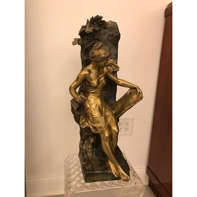 """Emile Louis Picault Signed Bronze Sculpture """"Memoria"""" - Image 2 of 10"""