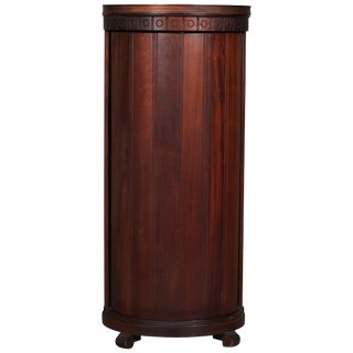 Antique English Mahogany Column Form Liquor Cellarette and Display Pedestal For Sale