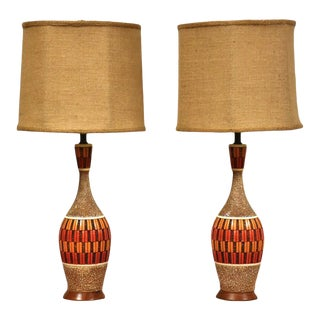 Mid Century Modern Table Lamps by Quartite - a Pair For Sale