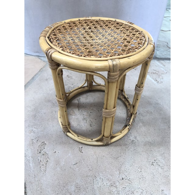 Vintage Petite bamboo plant stand