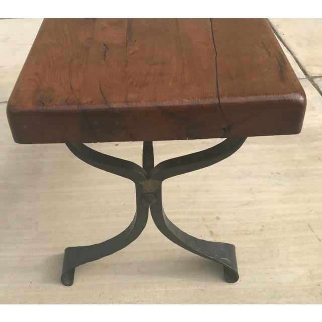 Coffee Late 20th Century Rustic French Iron Base Coffee Table For Sale - Image 8 of 12