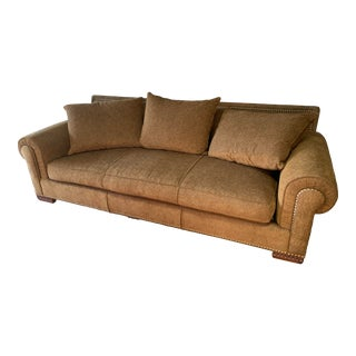 Marge Carson Brown Sofa For Sale