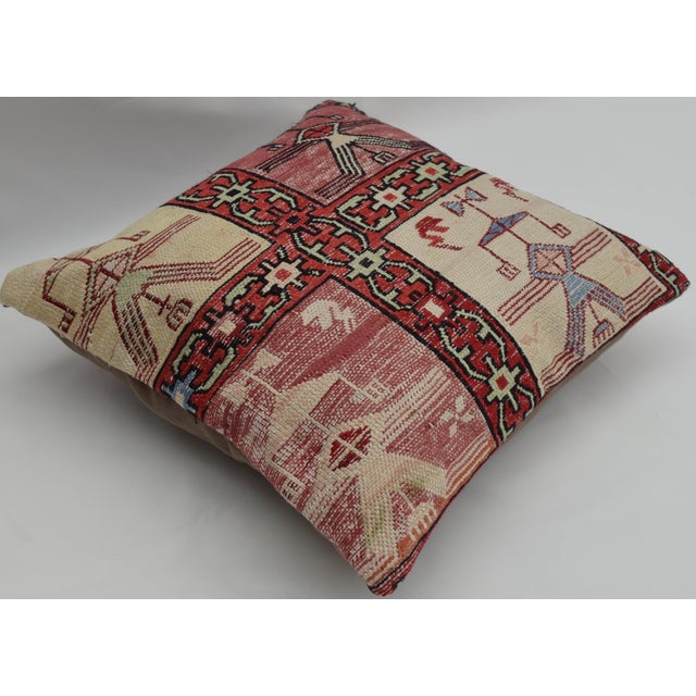 Hand Woven Silk Kilim Rug Pillow Cover - Image 3 of 5