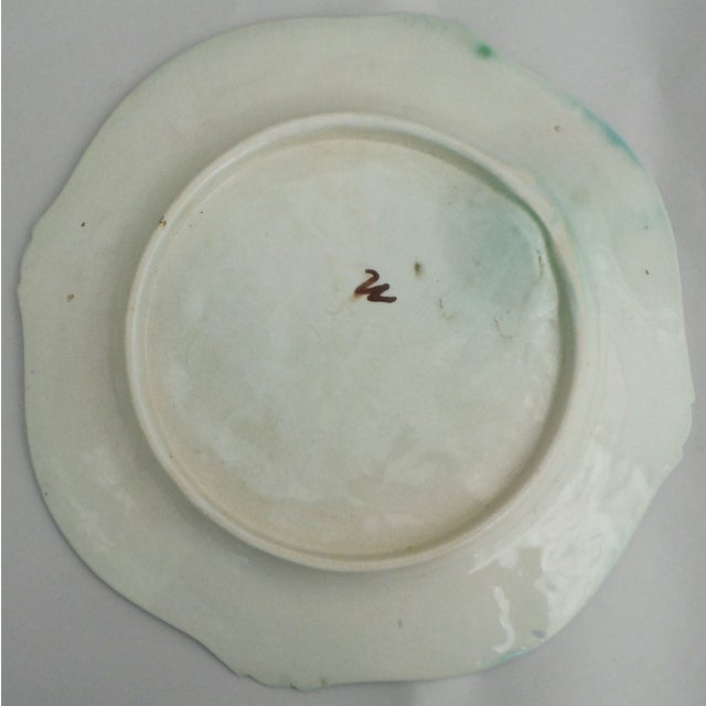 French Country Majolica Artichoke Plate For Sale - Image 3 of 3